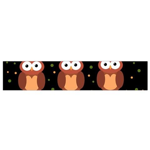 Halloween brown owls  Flano Scarf (Small)