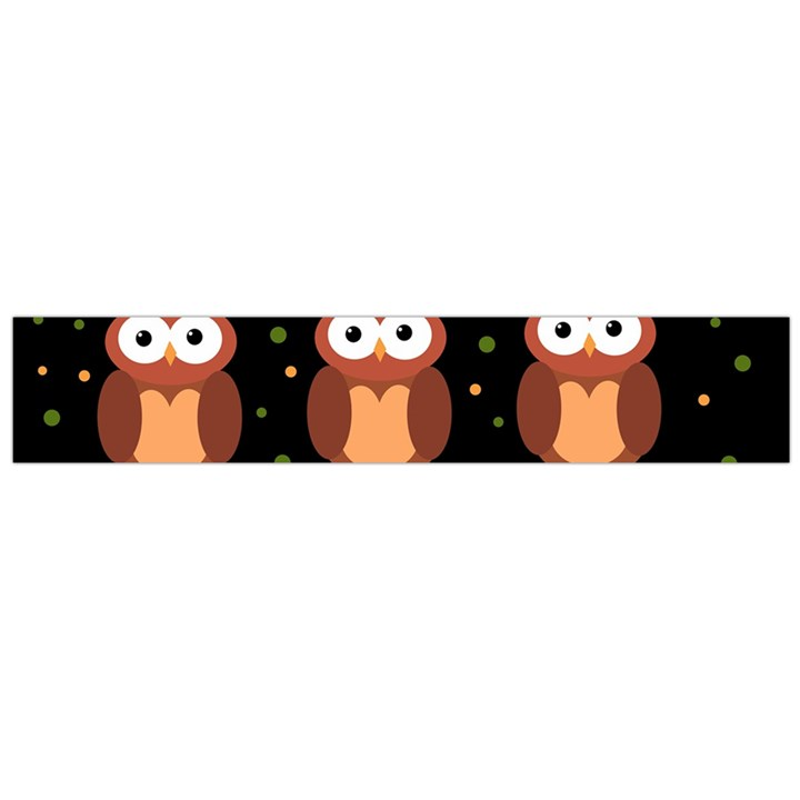 Halloween brown owls  Flano Scarf (Large)