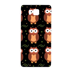 Halloween Brown Owls  Samsung Galaxy Alpha Hardshell Back Case