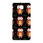 Halloween brown owls  Samsung Galaxy Alpha Hardshell Back Case Front
