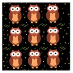 Halloween brown owls  Large Satin Scarf (Square) Front