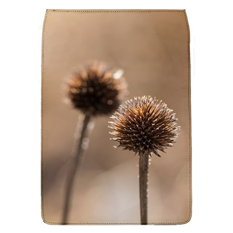 Withered Globe Thistle In Autumn Macro Flap Covers (L)