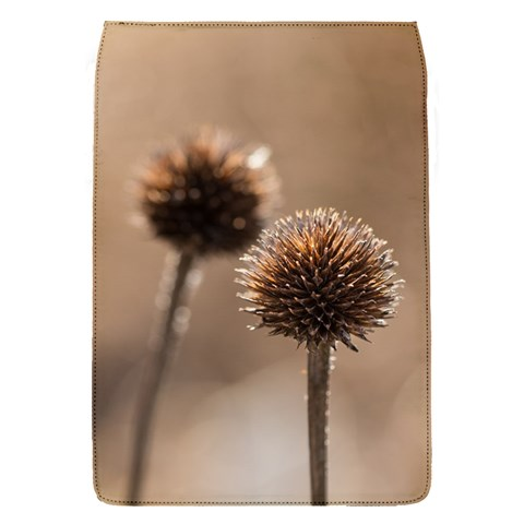 Withered Globe Thistle In Autumn Macro Flap Covers (S)