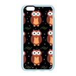 Halloween brown owls  Apple Seamless iPhone 6/6S Case (Color) Front