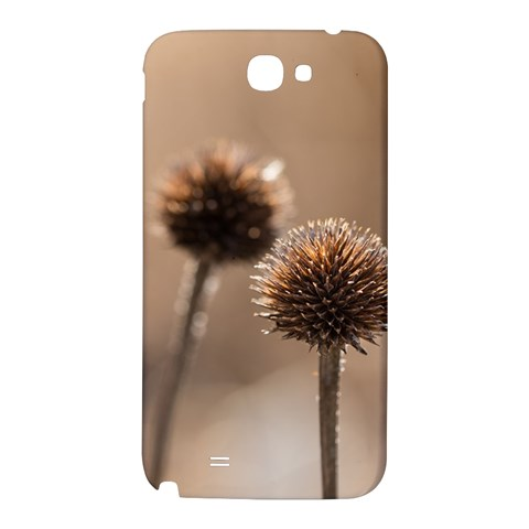 Withered Globe Thistle In Autumn Macro Samsung Note 2 N7100 Hardshell Back Case