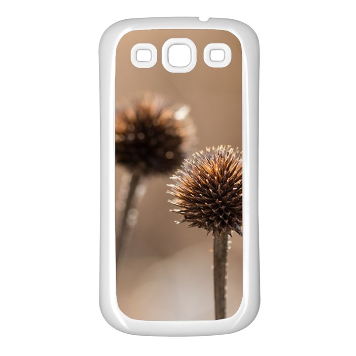 Withered Globe Thistle In Autumn Macro Samsung Galaxy S3 Back Case (White)
