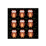Halloween brown owls  Satin Bandana Scarf Front