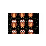 Halloween brown owls  Satin Wrap Front