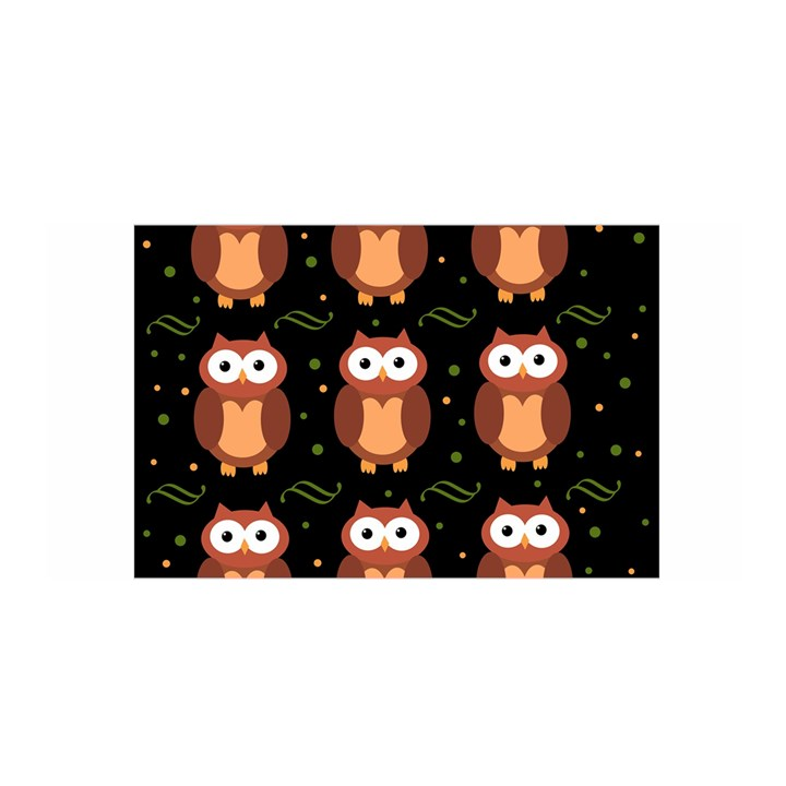 Halloween brown owls  Satin Wrap