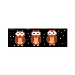 Halloween brown owls  Satin Scarf (Oblong)