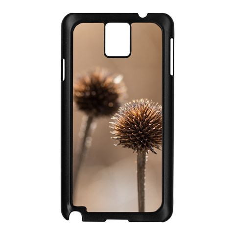 Withered Globe Thistle In Autumn Macro Samsung Galaxy Note 3 N9005 Case (Black)