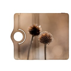 Withered Globe Thistle In Autumn Macro Kindle Fire Hdx 8 9  Flip 360 Case