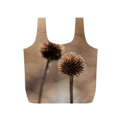 Withered Globe Thistle In Autumn Macro Full Print Recycle Bags (s)