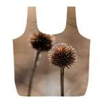 Withered Globe Thistle In Autumn Macro Full Print Recycle Bags (L)  Back