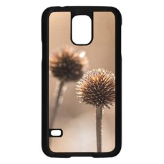 Withered Globe Thistle In Autumn Macro Samsung Galaxy S5 Case (black)