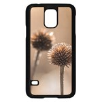 Withered Globe Thistle In Autumn Macro Samsung Galaxy S5 Case (Black) Front