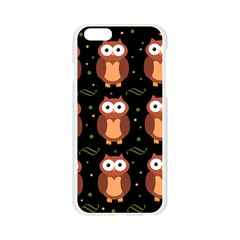 Halloween brown owls  Apple Seamless iPhone 6/6S Case (Transparent)