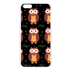 Halloween brown owls  Apple Seamless iPhone 6 Plus/6S Plus Case (Transparent)