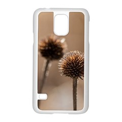 Withered Globe Thistle In Autumn Macro Samsung Galaxy S5 Case (White)
