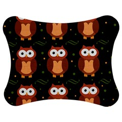 Halloween brown owls  Jigsaw Puzzle Photo Stand (Bow)