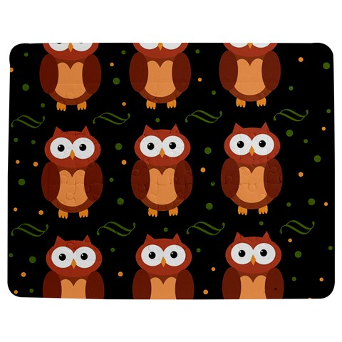 Halloween brown owls  Jigsaw Puzzle Photo Stand (Rectangular)