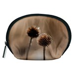 Withered Globe Thistle In Autumn Macro Accessory Pouches (Medium)  Front