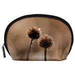 Withered Globe Thistle In Autumn Macro Accessory Pouches (Large)  Front