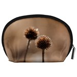 Withered Globe Thistle In Autumn Macro Accessory Pouches (Large)  Back