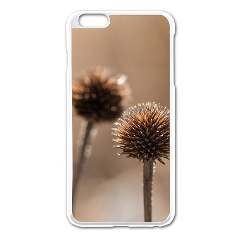 Withered Globe Thistle In Autumn Macro Apple iPhone 6 Plus/6S Plus Enamel White Case