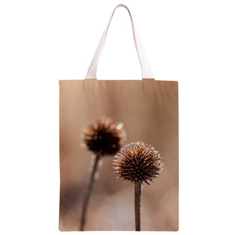 Withered Globe Thistle In Autumn Macro Classic Light Tote Bag
