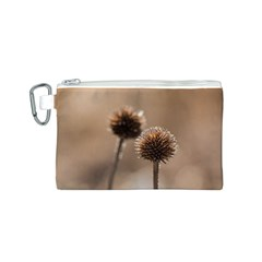 Withered Globe Thistle In Autumn Macro Canvas Cosmetic Bag (s)