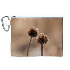 Withered Globe Thistle In Autumn Macro Canvas Cosmetic Bag (xl)
