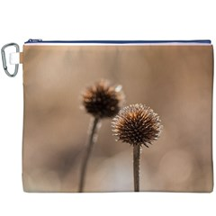 Withered Globe Thistle In Autumn Macro Canvas Cosmetic Bag (xxxl)