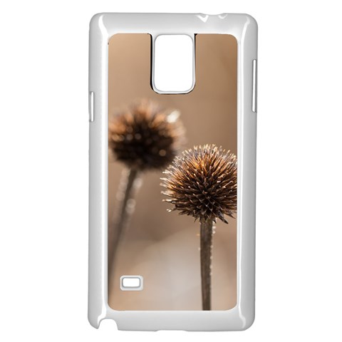 Withered Globe Thistle In Autumn Macro Samsung Galaxy Note 4 Case (White)