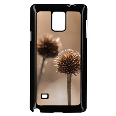 Withered Globe Thistle In Autumn Macro Samsung Galaxy Note 4 Case (Black)