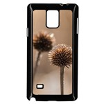 Withered Globe Thistle In Autumn Macro Samsung Galaxy Note 4 Case (Black) Front