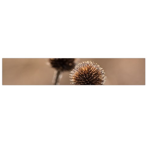 Withered Globe Thistle In Autumn Macro Flano Scarf (Large)