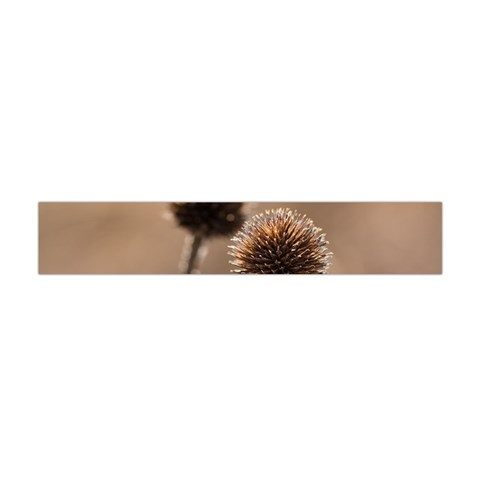 Withered Globe Thistle In Autumn Macro Flano Scarf (Mini)