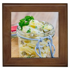 Potato salad in a jar on wooden Framed Tiles