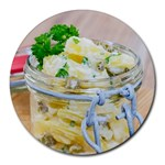 Potato salad in a jar on wooden Round Mousepads Front