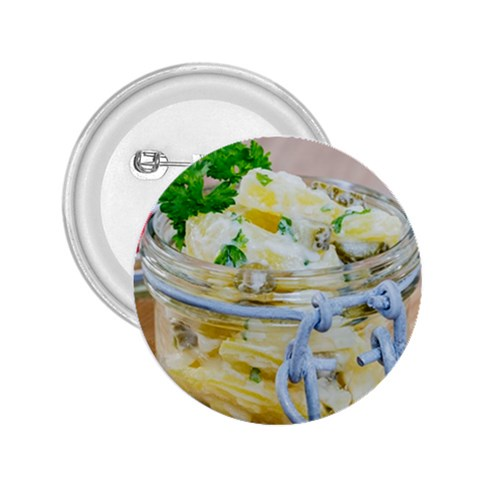 Potato salad in a jar on wooden 2.25  Buttons