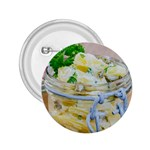 Potato salad in a jar on wooden 2.25  Buttons Front