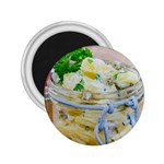 Potato salad in a jar on wooden 2.25  Magnets Front