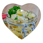 Potato salad in a jar on wooden Ornament (Heart)  Front