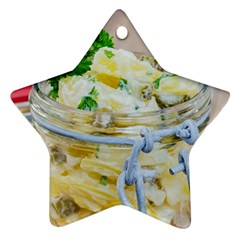 Potato salad in a jar on wooden Ornament (Star)