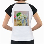 Potato salad in a jar on wooden Women s Cap Sleeve T Back
