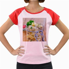 Potato Salad In A Jar On Wooden Women s Cap Sleeve T Shirt