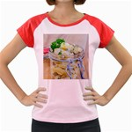 Potato salad in a jar on wooden Women s Cap Sleeve T-Shirt Front