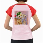 Potato salad in a jar on wooden Women s Cap Sleeve T-Shirt Back