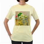 Potato salad in a jar on wooden Women s Yellow T-Shirt Front